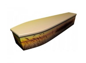 Wooden coffin - Spring sunset - 4039