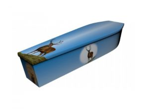Wooden coffin - Stag - 4122