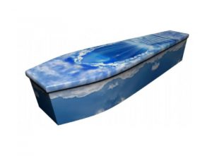 Wooden coffin - Stairway to Heaven - 4123