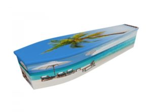 Wooden coffin - Summer Beach - 4276