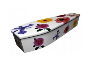 Wooden coffin - Summer flowers - 4127