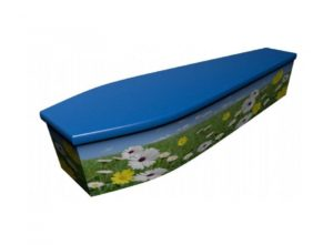 Wooden coffin - Summer scene - 4040