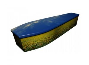 Wooden coffin - Sunflower Field - 4148