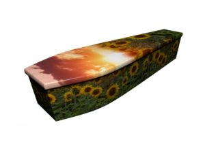 Wooden coffin - Sunflower Sunset - 4244