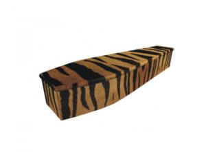Wooden coffin - Tiger stripe - 4032