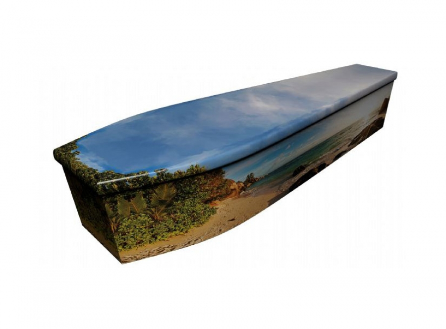 Wooden coffin - Tropical beach - 4131