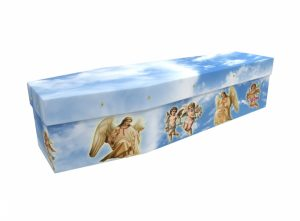 Cardboard coffin - Angels & Cherubs - 3539