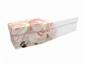 Cardboard coffin - Blushing Roses - 3552
