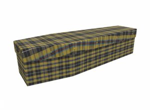 Cardboard coffin - Cornish Tartan - 3500