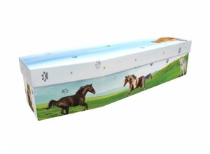 Cardboard coffin - Horses & Cats - 3574