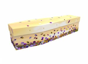 Cardboard coffin - Pansy Flowers - 3509