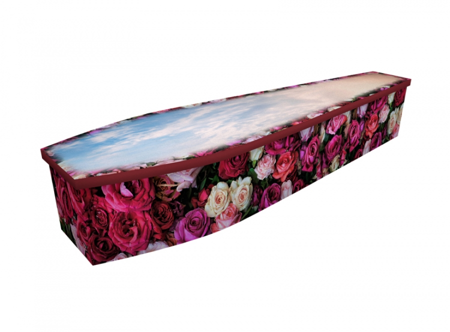Wooden coffin - Bed of Roses - 4291
