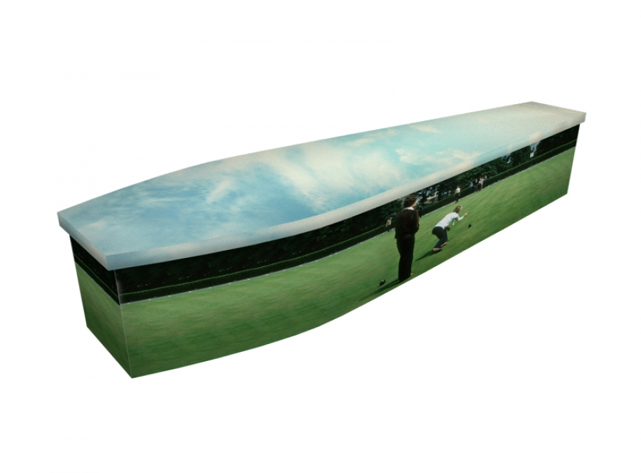 Wooden coffin - Bowling Green - 4302