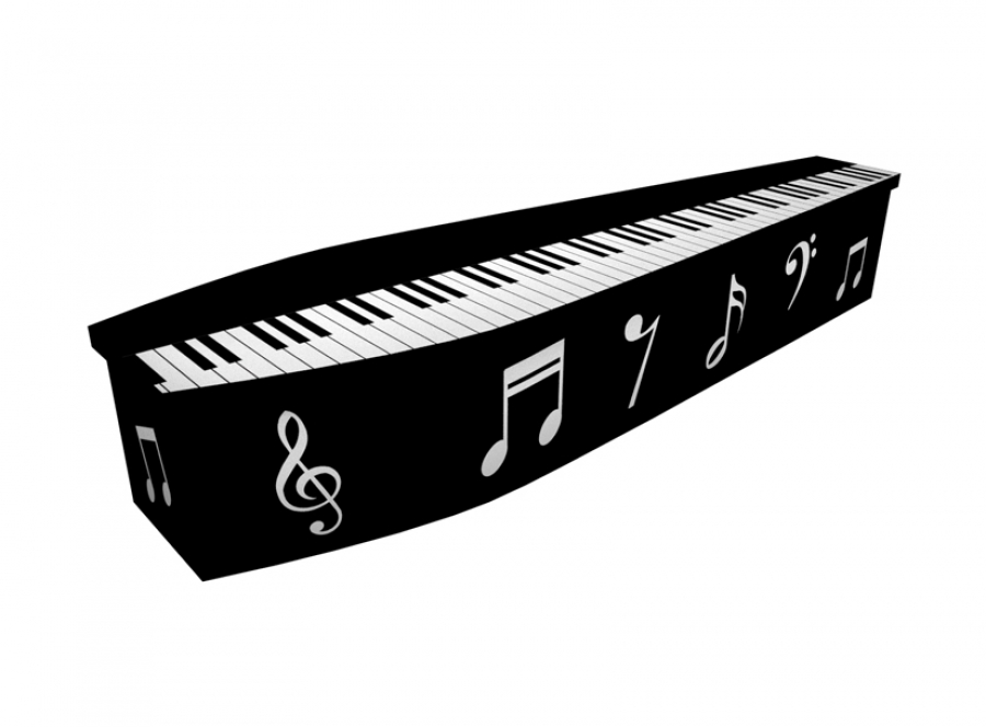 Wooden coffin - Piano - 4297