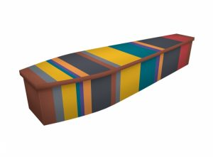 Wooden coffin - Stripe - 4289