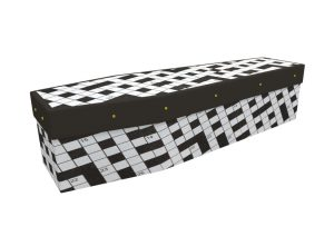 crossword picture cardboard coffin