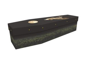 Howling moon picture cardboard coffin