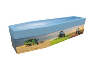 Seasonal Farming cardboard Picture coffin
