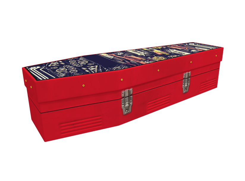 Toolbox cardboard picture coffin