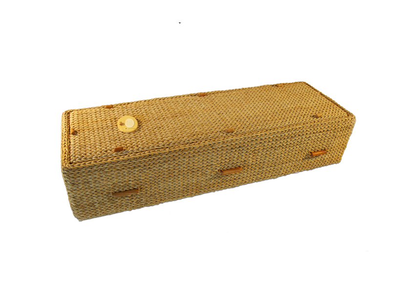Woven coffin made from Banana Leaf