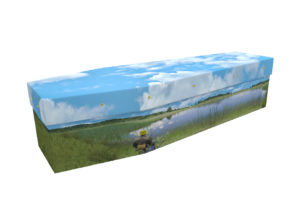 Fishing Cardboard Coffin