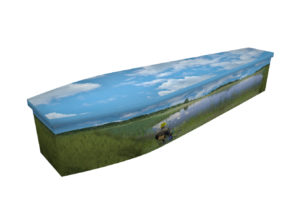 Fishing wooden coffin